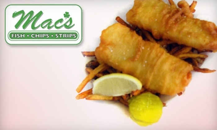 Mac's Fish & Chips - Roseville: $7 for $14 Worth of Hand-Battered Bites and Baskets at Mac's Fish & Chips in Saint Paul