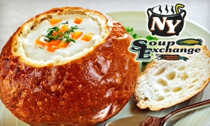 NY Soup Exchange - Garden City: $10 for $20 Worth of Soup and Smoothies at NY Soup Exchange
