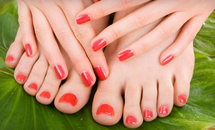 Spa Manicure and Pedicure (a $65 value) - Oh! So Nat-Tru-ral Nail Salon in Macon