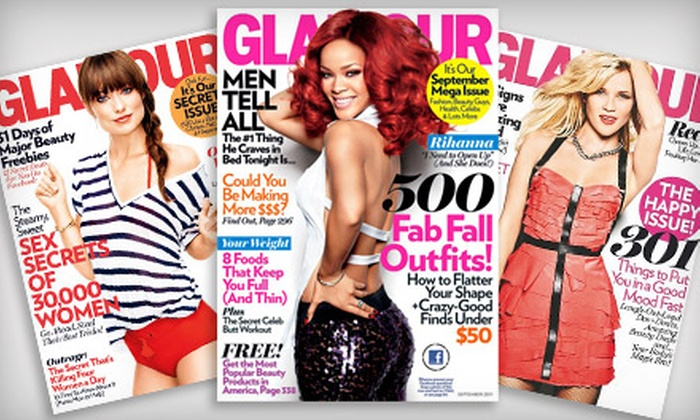 """""""Glamour"""" Magazine  - Queensbury: $6 for One-Year Subscription to """"Glamour"""" Magazine ($12 Value)"""