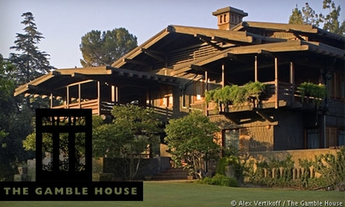 Gamble House - North Arroyo: $10 for Two Tickets to a Guided Architecture Tour of The Gamble House ($25 Value)