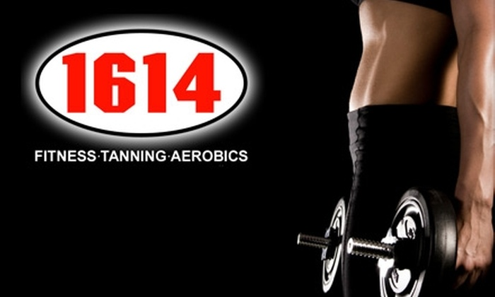 1614 Fitness and Aerobics - Multiple Locations: $40 for One-Month Membership and Unlimited Tanning and Fitness Classes at 1614 Fitness and Aerobics ($144 Value)