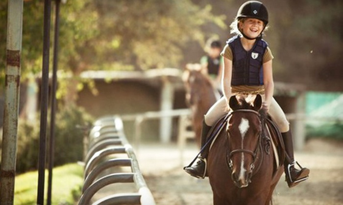 San Pascual Stables - South Pasadena: $75 for Three Beginner Horseback-Riding Lessons at San Pascual Stables in South Pasadena ($150 Value)