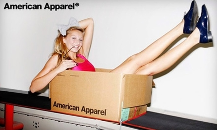 American Apparel - Saskatoon: $25 for $50 Worth of Current Fashions at American Apparel. Choose Between Two Options.