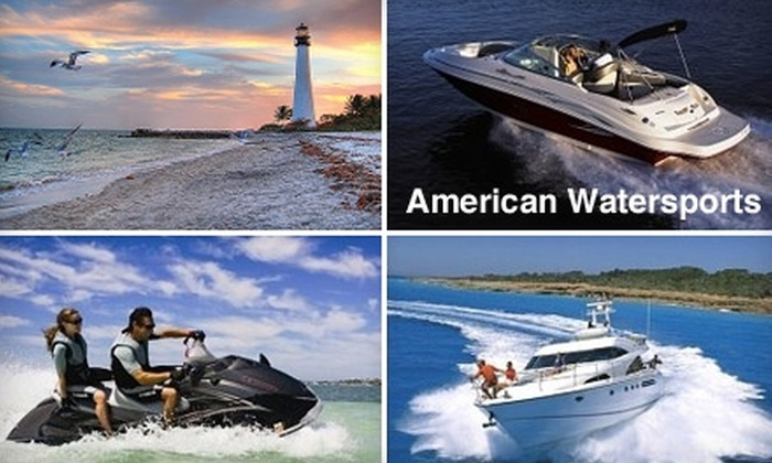American WaterSports - Northeast Coconut Grove: Boat or Jet-Ski Tour from American WaterSports. Choose from Three Options.