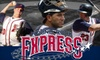 Round Rock Express - Round Rock: $39 for Four Box Seats, Two Parking Passes, and Shirt or Cap at a Round Rock Express game (Up to $90 Value)