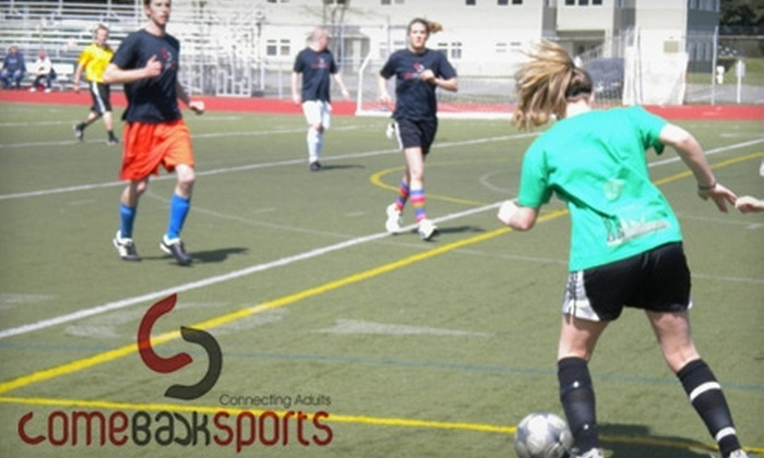 Comeback Sports - North End: $30 for Individual Entry in a Comeback Sports Recreational Sports League (Up to $75 Value)