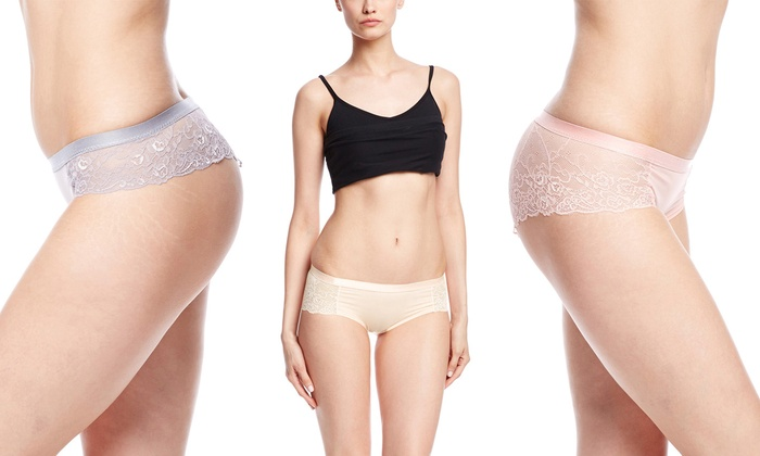bf5d852452a3 Sophie B Women's Lace Around Back Thong or Boyshorts (8-Pack)   Groupon