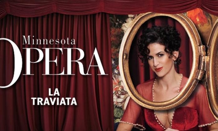 "Minnesota Opera - Northwestern Precinct: Tickets to Minnesota Opera's Production of ""La traviata"" (Up to $200 Value). Choose from Three Options."