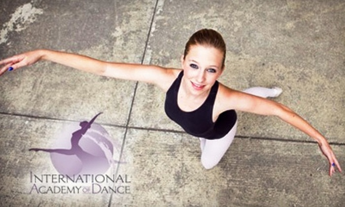 International Academy of Dance - Central Santa Cruz: Dance Fitness Classes or Graded Ballet School Classes and Tuition at International Academy of Dance. Choose One of Two Options.