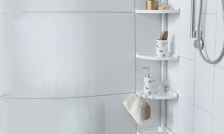 1 et 2 serviteur de douche télescopique Compactor; fixation sans vis par simple pression