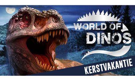 Tickets voor dinosaurusexpo World of Dinos in de Brabanthallen in Den Bosch tijdens de Kerstvakantie