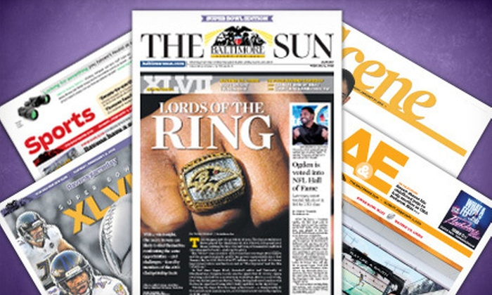 "The Baltimore Sun - Baltimore: $10 for a 52-Week Weekend Subscription to ""The Baltimore Sun"" ($103.48 Value)"