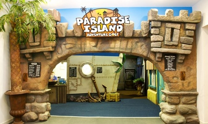 Paradise Island Adventure Golf Sheffield - Sheffield: Paradise Island Adventure Golf: 18 Holes For Two (£6) or Four (£10) (Up to 60% Off)