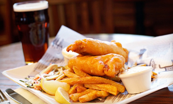 Streets of London Pub - Multiple Locations: English Feast for Four or $15 for $30 Worth of Pub Fare and Drinks at Streets of London Pub. Two Locations Available.