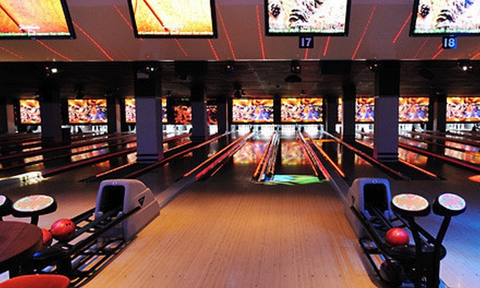 Frames Bowling Lounge NYC - Midtown West: Two Games of Bowling Including Shoe Rentals for 4, 6 or 10, or $15 for $30 Toward Games, Dinner, or Drinks