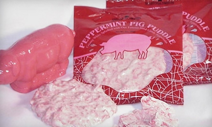Saratoga Sweets - Maltaville: Peppermint Pig Candy Gift Pack or $10 for $20 Worth of Sweets at Saratoga Sweets in Halfmoon