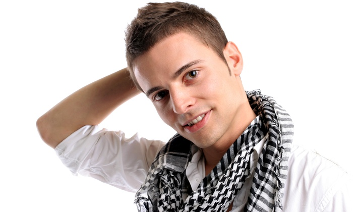 Adam at Salon En. V - Santa Maria: Adult Mens Haircut and Eyebrow Maintenance with Optional Color with Adam at Salon En. V (Up to 62% Off)