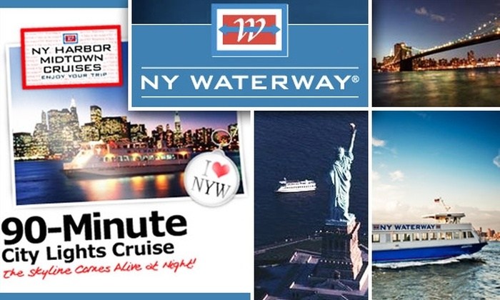 NY Waterway Tours - Clinton: $15 for One of Three 90-Minute NY Waterway Boat Tours