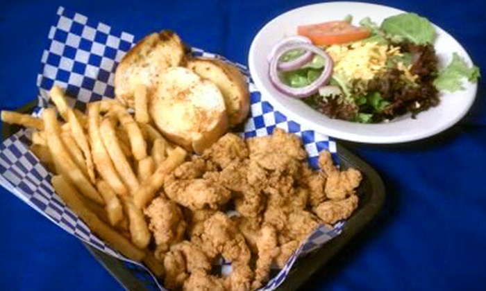 Blue Dog Po' Boys - On Top of the World: New Orleans-Style Fare or Catering from Blue Dog Po' Boys in Clearwater (Up to 51% Off)