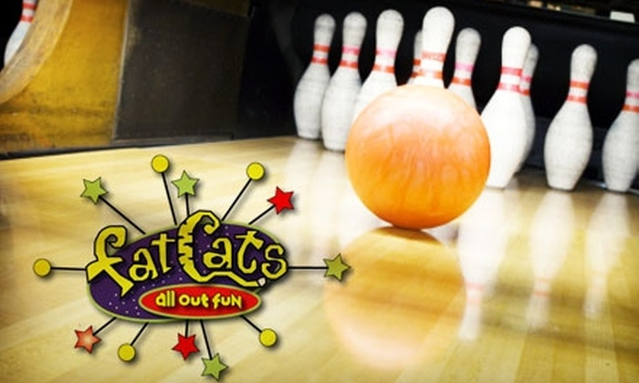 Fat Cats - North Central Westminster: $35 for Two Hours of Bowling, Shoes, Food, and Drinks for Six People at Fat Cats (Up to $115 Value).