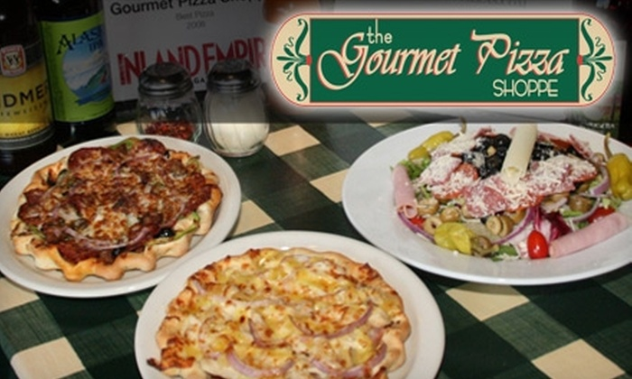 """The Gourmet Pizza Shoppe - Multiple Locations: $9 for Any 14"""" Pizza at The Gourmet Pizza Shoppe (up to $25.52 Value). Two Locations Available."""