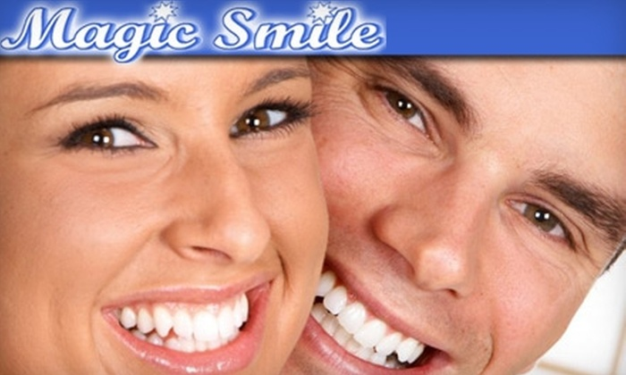 Magic Smile - Multiple Locations: $99 for Teeth Whitening Procedure ($300 Value) or $39 for At-Home Whitening Kit ($80 Value) from Magic Smile