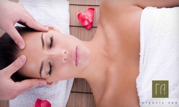 rA Organic Spa - Burbank: One-Hour Massage or One-Hour Facial at rA Organic Spa in Burbank (Up to a $115 Value)