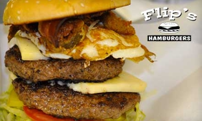 Flip's Burgers - August: $6 for $12 Worth of Hamburgers, Hot Dogs, Milkshakes, and More at Flip's Burgers