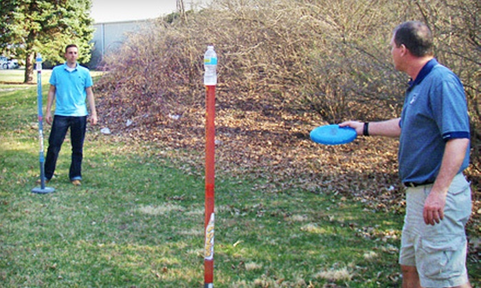 Up To 42 Off Poles An Outdoor Frisbee Game Groupon Goods