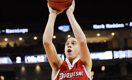 Duquesne Dukes Men's Baskeball vs. Richmond Spiders on Sat., Feb. 4 at 7PM: Red Chair-Back Section Seating - Duquesne Dukes in Pittsburgh