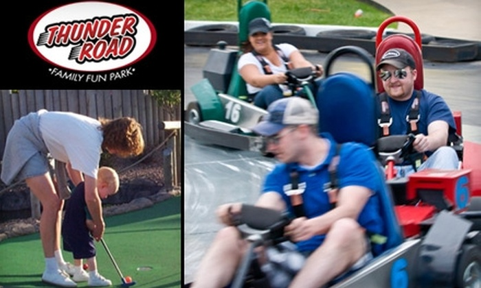 Thunder Road Family Fun Park - Sioux Falls: $11 for Two Go-Kart Rides and Two Rounds of Mini Golf at Thunder Road Family Fun Park (Up to $22.50 Value)