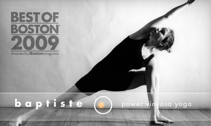 Baptiste Power Yoga - Multiple Locations: $30 for Five Hot-Yoga Classes Plus One Week of Unlimited Classes for First-Time Students at Baptiste Power Yoga ($70 Value)