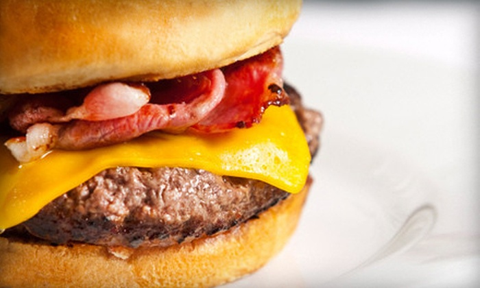 Sam and DJ's - Far West Side: Appetizers and Burgers for Two or Four at Sam and DJ's (Half Off)