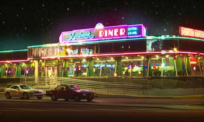Landmark Diner and Landmark's Broadway Diner - Multiple Locations: $12 for $25 Worth of Diner Fare at Landmark Diner and Landmark's Broadway Diner