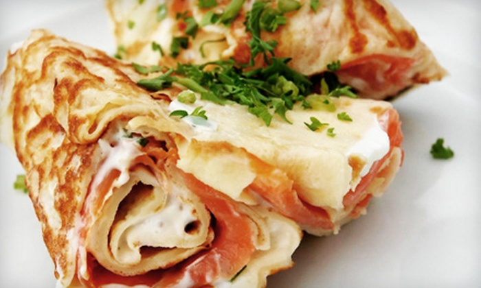 Taste Crepes & More - Forest Crest: Crepes, Paninis, and Pizza Meals for Two from Taste Crepes & More (Up to Half Off)