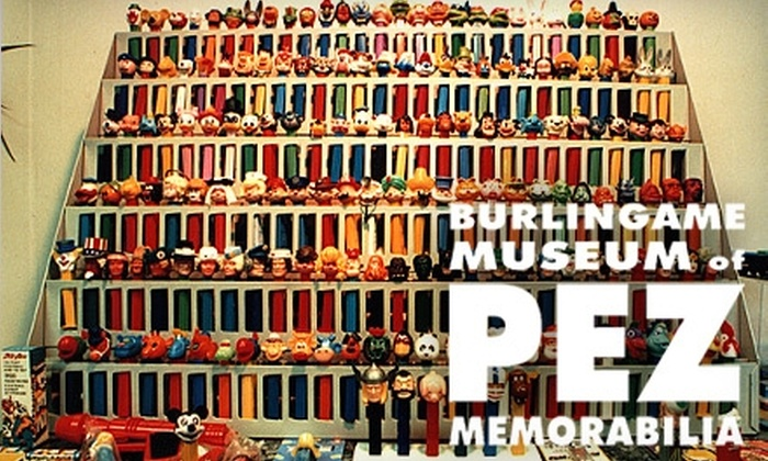 Burlingame Museum of PEZ Memorabilia - Downtown: $5 for Two Tickets and $5 Worth of Store Credit at Burlingame Museum of Pez Memorabilia ($11 Value)