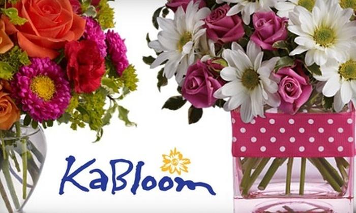 KaBloom of Eagle - Eagle: $18 for One Dozen Roses Arranged at KaBloom of Eagle ($49.99 Value)