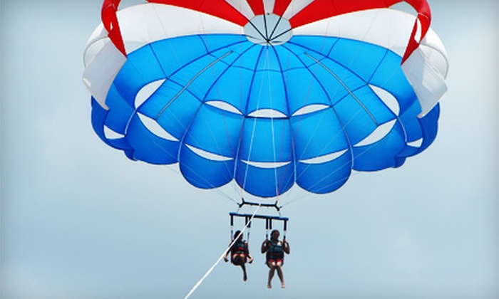 Sky Screamer Parasail - Tampa Bay Area: $95 for a Tandem Parasailing Package with Photos for Two from Sky Screamer Parasail in Clearwater (Up to $222.56 Value)