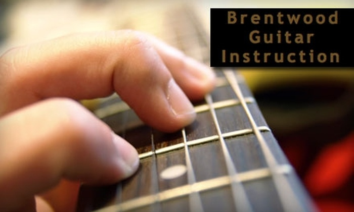 Brentwood Guitar - Clearwater: $25 for Two 30-Minute Guitar Lessons Plus Two Digitally Recorded Study Aids from Brentwood Guitar Instruction ($80 Value)