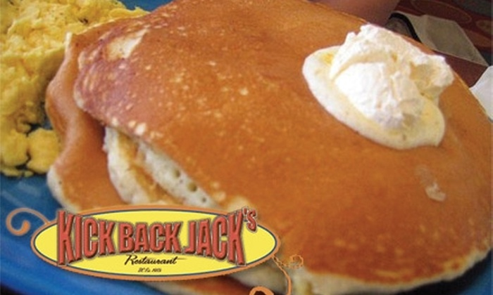 Kickback Jack's Restaurant - Multiple Locations: $10 for $20 Worth of Breakfast and Lunch Fare at Kickback Jack's Restaurant