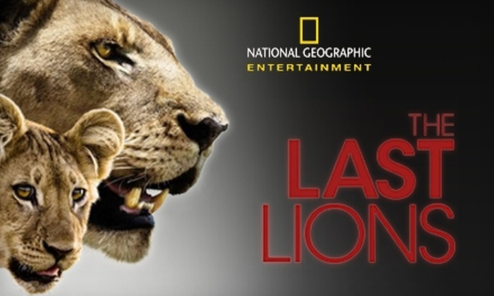 """""""The Last Lions"""" - Multiple Locations: $6 for Admission to National Geographic's """"The Last Lions"""" at The Paris Theatre or Angelika Film Center (Up to $13 Value)"""