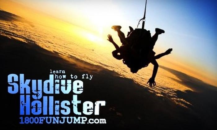 Skydive Hollister - Hollister: $99 Tandem Skydive with Skydive Hollister
