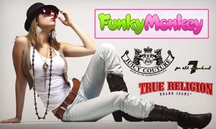 Funky Monkey - Northwest Oklahoma City: $49 for $100 Worth of Designer Clothing at Funky Monkey