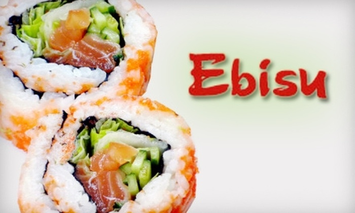 Ebisu Japanese Restaurant - Glenwood Townhomes: $15 for $30 Worth of Japanese Fare and Drinks at Ebisu Japanese Restaurant