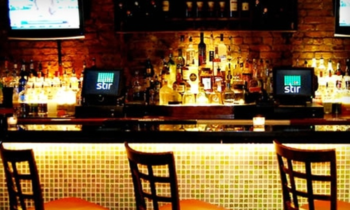 Stir - New York: $10 for $20 Worth Of Creative Tapas, Sliders, and Martinis at Stir