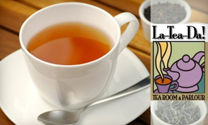 La-Tea-Da! Tea Room & Parlour - East Avenue: $8 for a Full Afternoon Tea at La-Tea-Da Tea Room & Parlour ($16 Value)