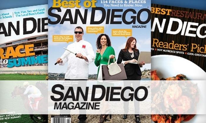 """San Diego Magazine"": $8 for One-Year Subscription to ""San Diego Magazine"""
