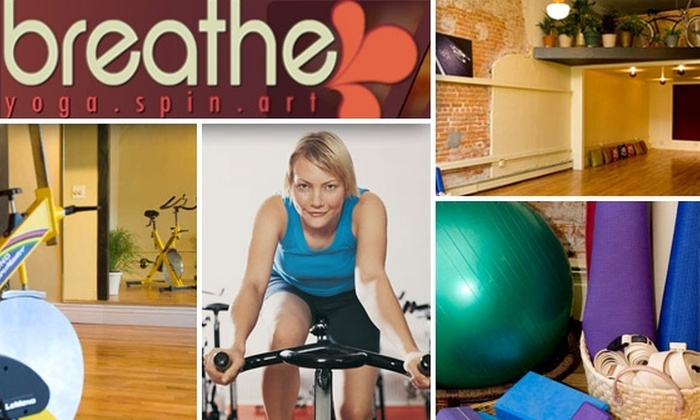Breathe - Five Points: $59 for Six Weeks of Unlimited Yoga and Spinning Classes at Breathe ($223 Value)