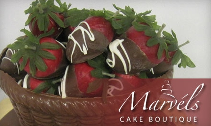 Marvel's Cake Boutique - Briargate: $20 for a Chocolate Basket of Chocolate-Dipped Fruit at Marvel's Cake Boutique ($40 Value)